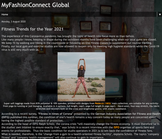 My Fashion Connect Global Featuring Rebecca J Mills Activewear