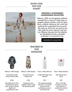 Wolf & Badger featuring Rebecca J Mills Loungewear collection