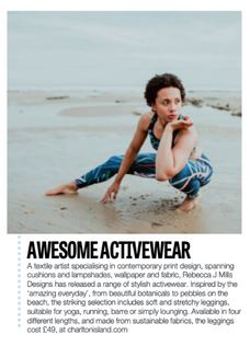 Velvet Magazine Featuring Activewear