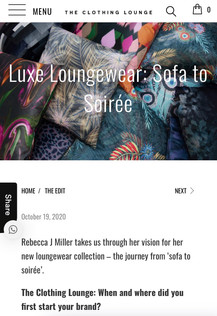 The Clothing Lounge featuring Rebecca J Mills Collection