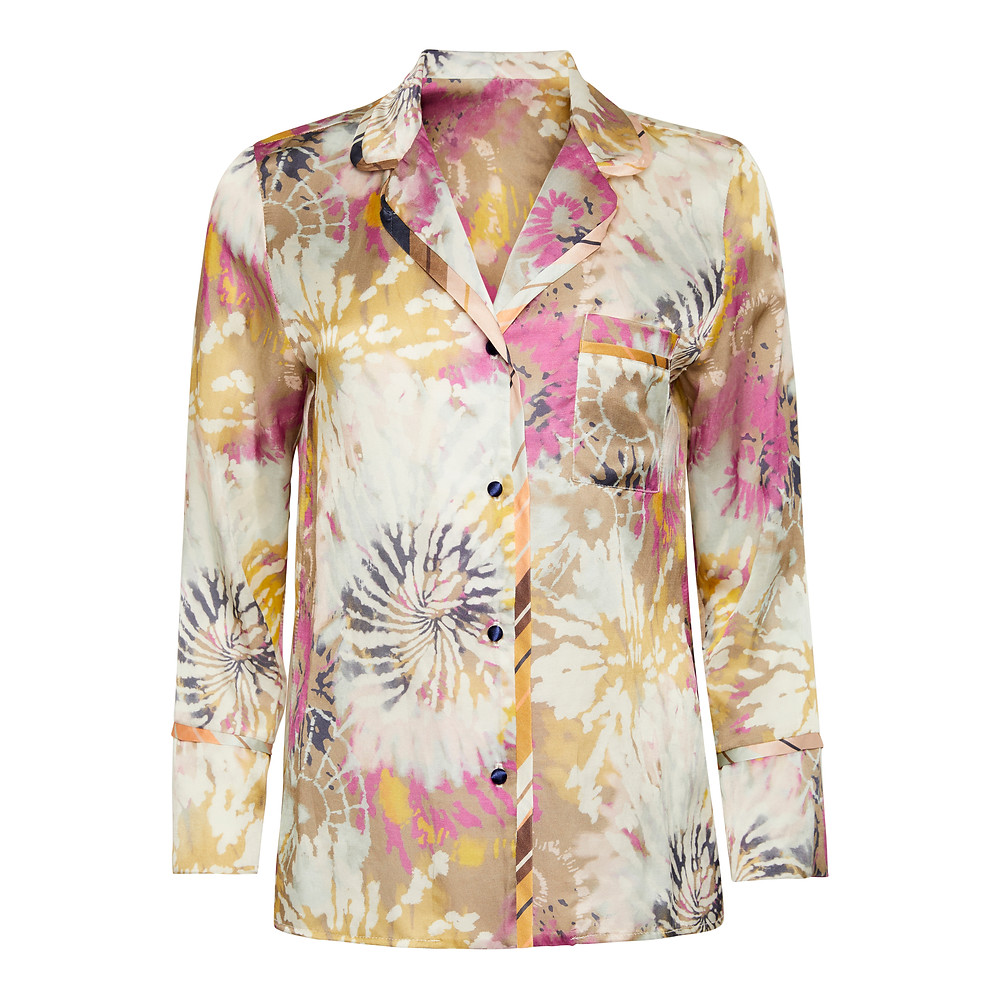 Gorgeous Drea print Pyjama top from the loungewear collection from Rebecca J Mills