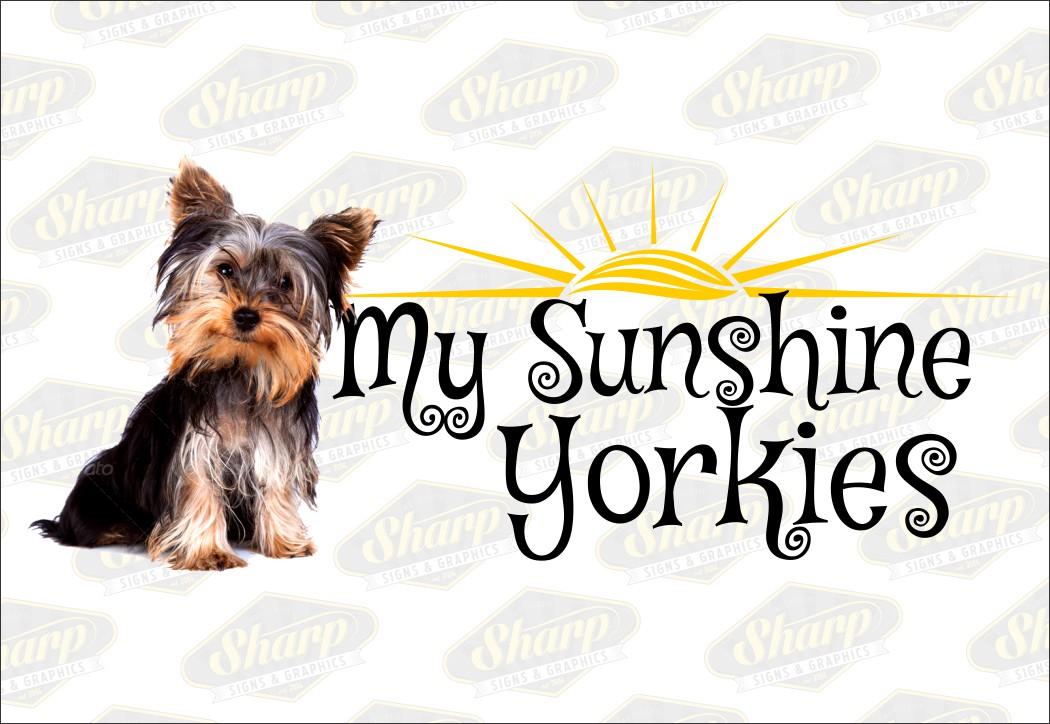 My Sunshine Yorkies logo