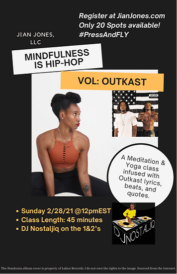 Mindfulness is Hip-Hop Virtual Yoga Class ONLY