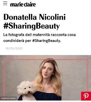 Donatella Nicolini Marie Claire Fotograf