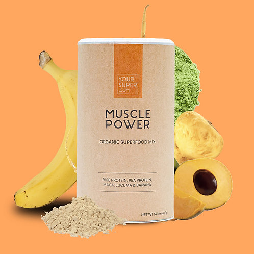 Your Super - MUSCLE POWER - Organic Protein Mix - Versterkt je spieren (400g)