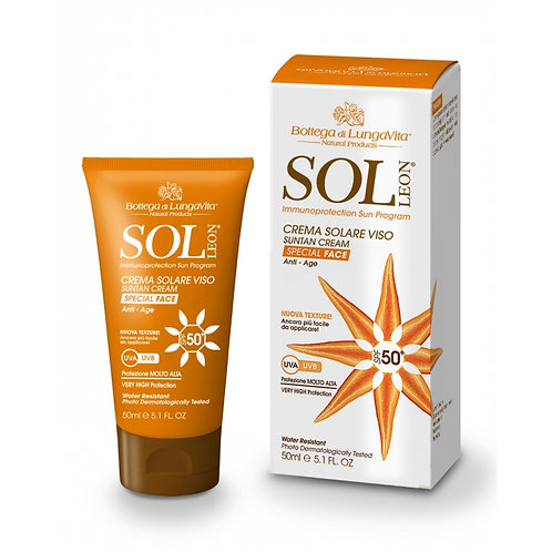 SOL Léon - Sun Protection Face Cream SPF50 -  Extreme | Anti-age (50ml)