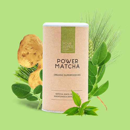 Your Super - POWER MATCHA - Organic Superfood Mix - Focus/Productiviteit - 150g