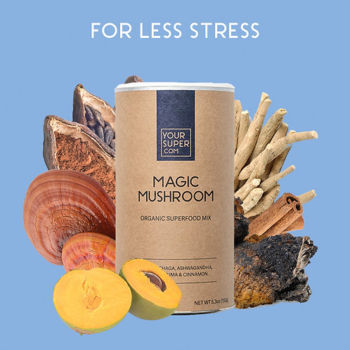 Your Super - MAGIC MUSHROOM - Organic Superfood Mix -  Reduceert stress (150g)