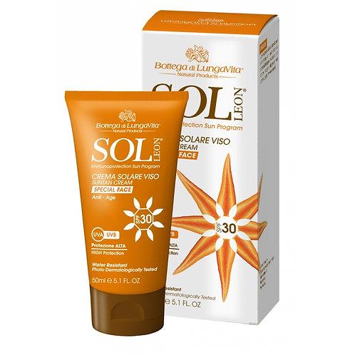 SOL Léon - Sun Protection Face Cream SPF30 - High | Anti-age (50ml)