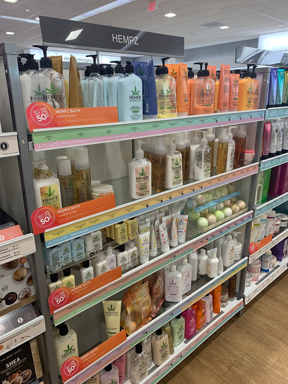 here's a slew of products containing hemp, sold at ULTA
