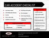 Being involved in an auto accident is stressful. Be prepared with our accident checklist.