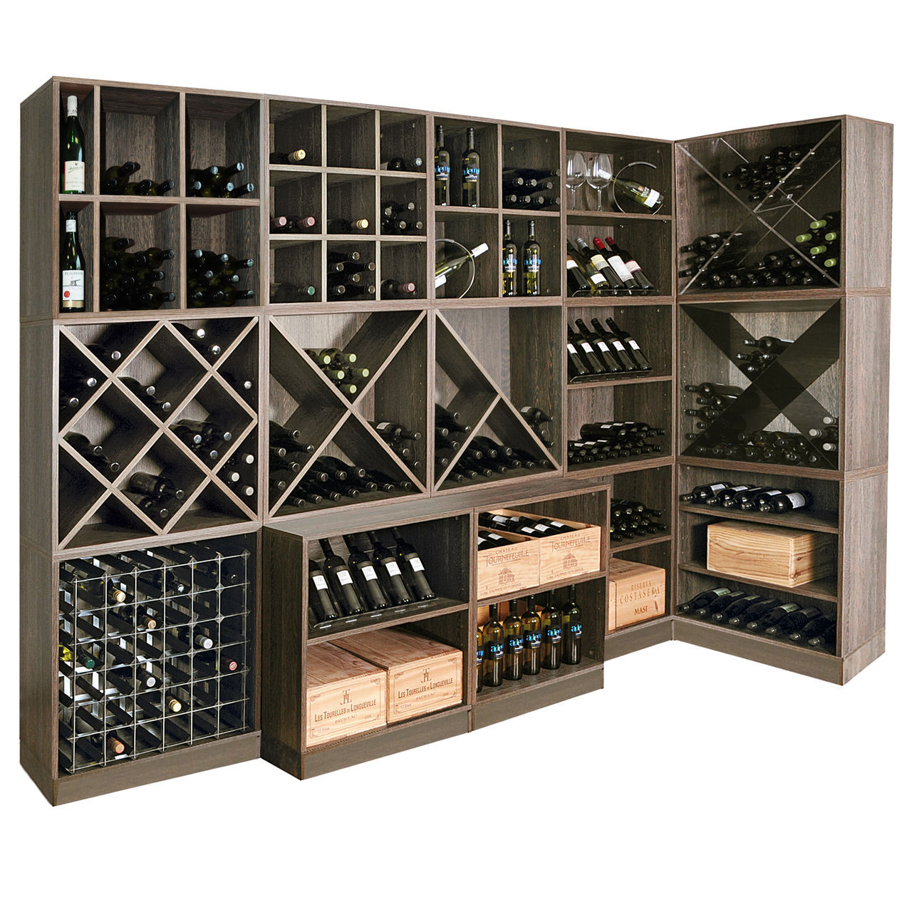 Стеллажи для хранения вина