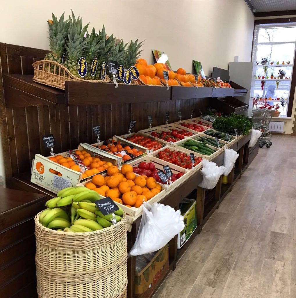 Стеллажи для овощей и фруктов