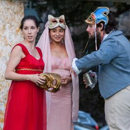Beatrice, Hero & Leonato at the revel
