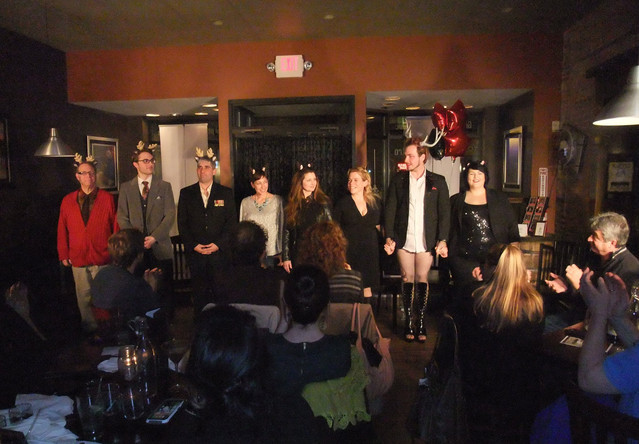 The cast at Bistro 197