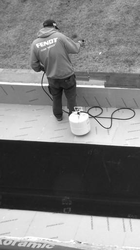 Etanchéité de toit plat EPDM