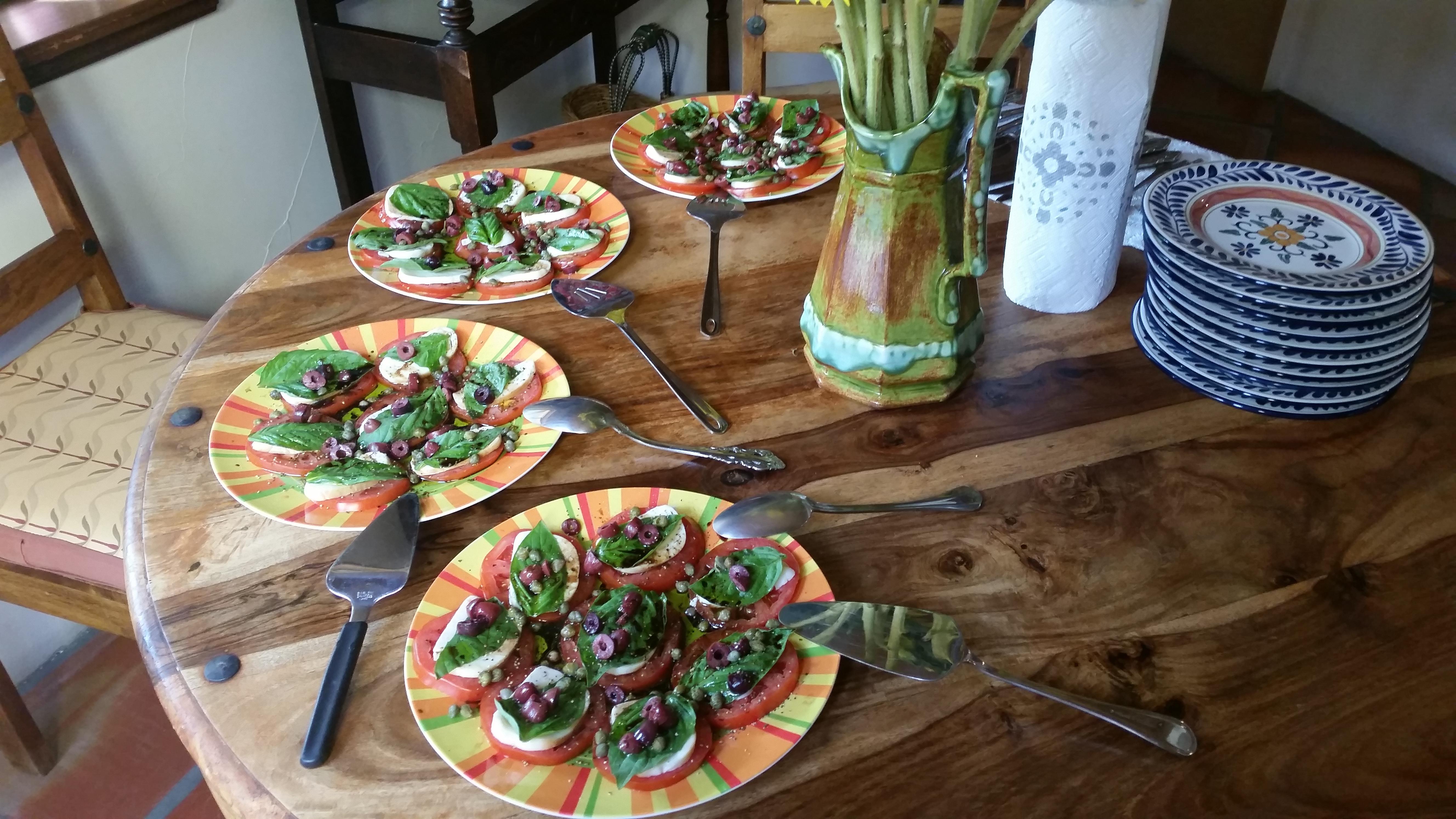 Organic Smoked Mozzarella Caprese