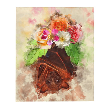 "Flower Bat 50x60"" Throw Blanket"