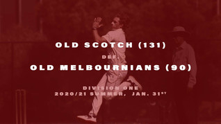 Old Scotch victorious over the old foe