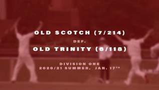 Old Scotch Cricket enters 2021
