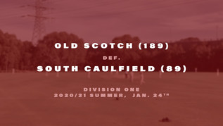Comfortable victory over South Caulfield