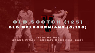 Old Scotch fall short in tight grand final loss