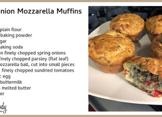 Spring Onion Mozzarella Muffins