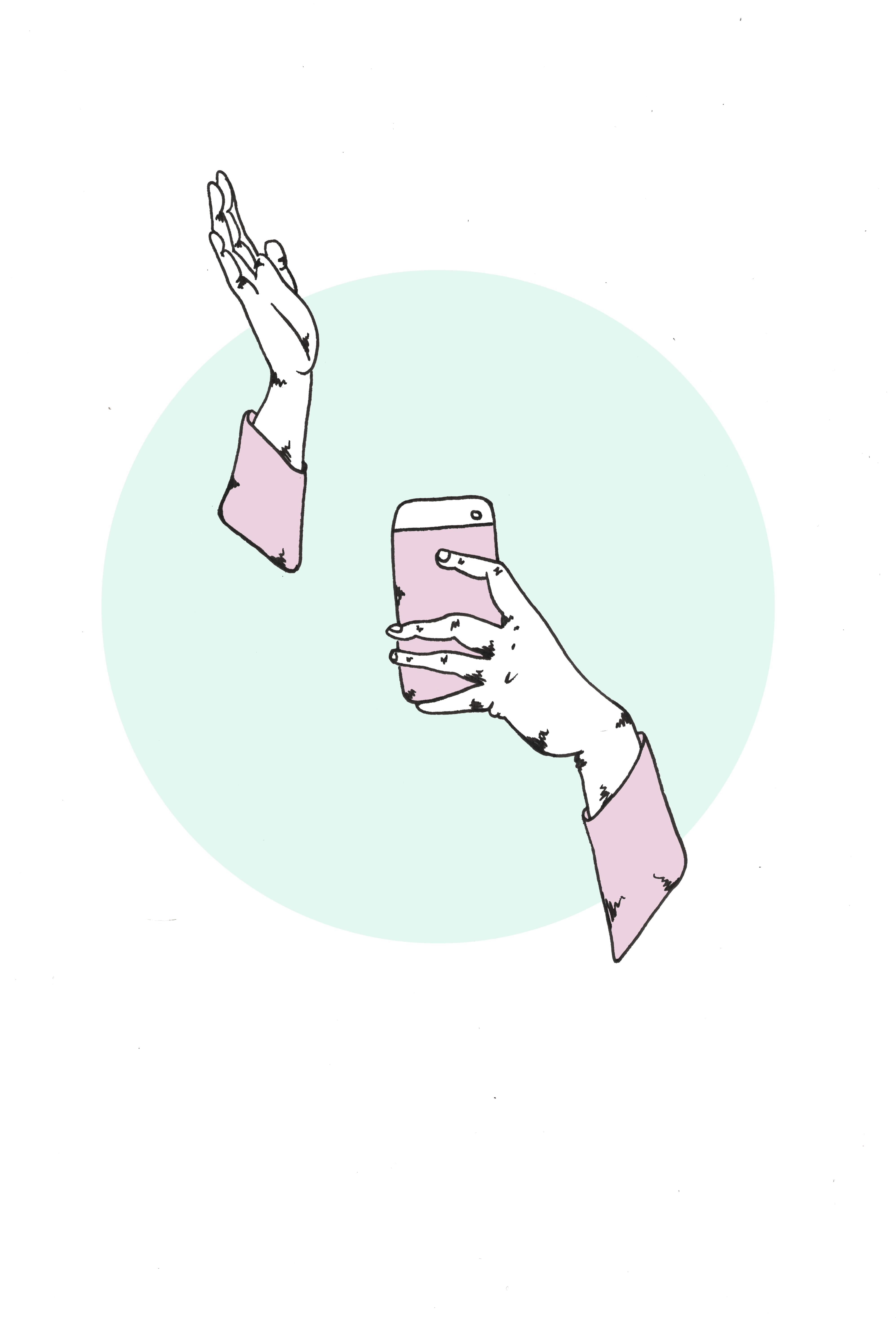selfie pink sleeves