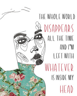 The whole world disappears smaller