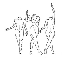 3 ballerinas plain