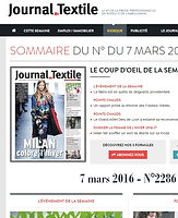 Interview dans le journal du textile. salon stock free, salon import & déstockage, lots permanents, maison & famille, meilleur prix