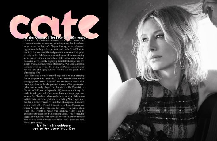 cate blanchett in w magazine 2018