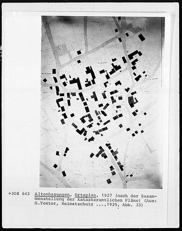 Ortsplan von Altenhasungen 1927 © Bildarchiv Foto Marburg / Georg Textor - www.fotomarburg.de