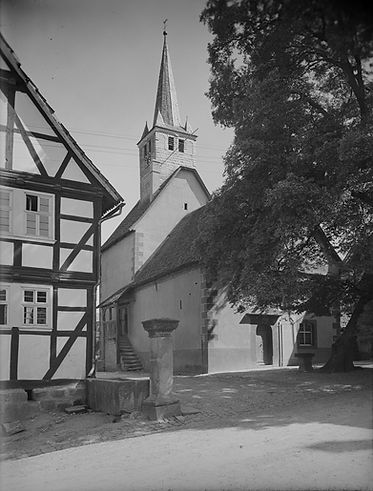 Viesebeck Evangelische Kirche, um 1930, © Bildarchiv Foto Marburg - www.fotomarburg.de