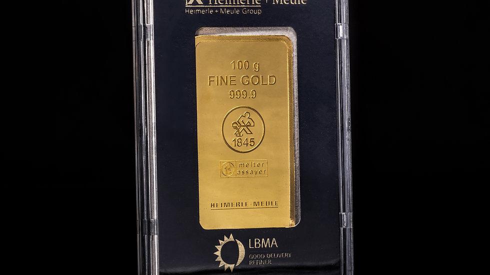 100g Fine Gold Bullion Bar