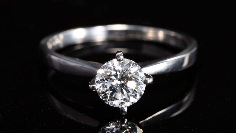 Platinum 1ct Solitaire Diamond (GIA)