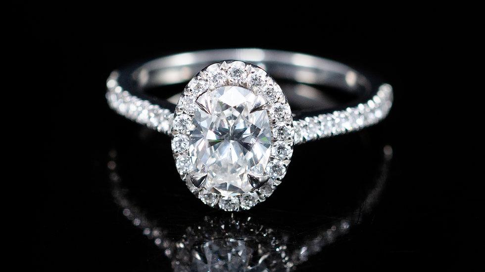 1.07 Ct Oval Brilliant Diamond Ring