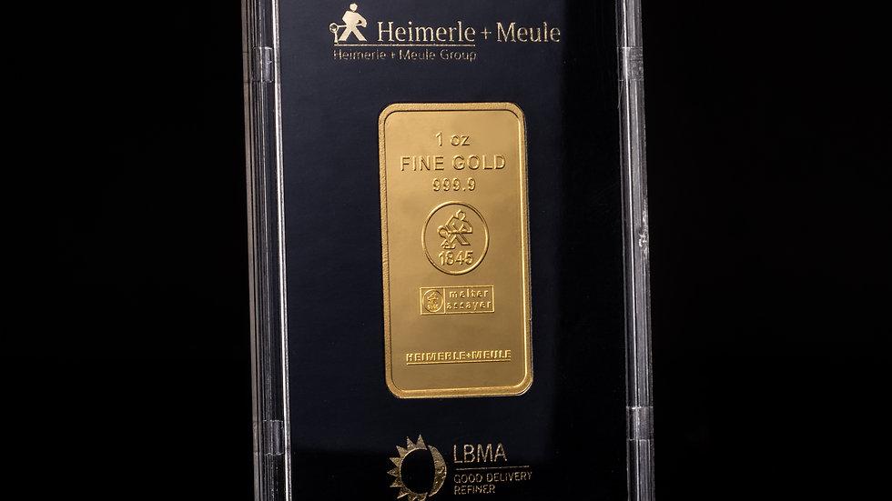 1oz Fine Gold Bullion Bar