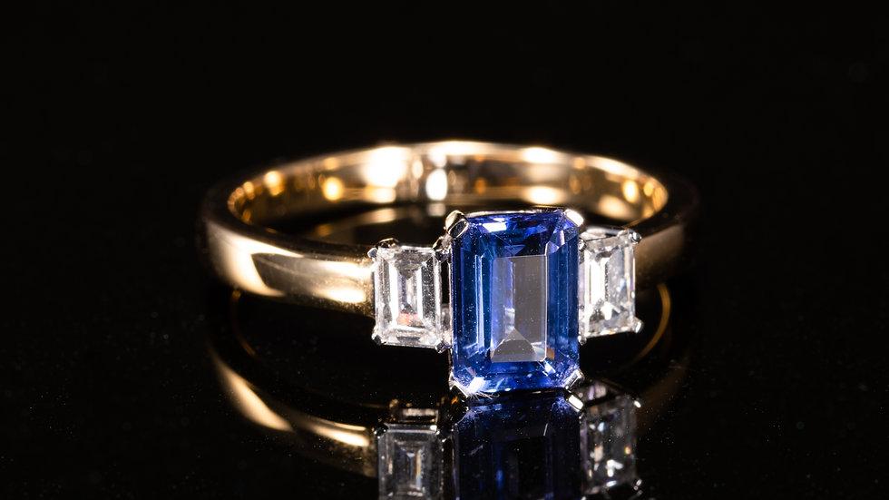 18ctYellow Gold, Tanzanite & Diamond