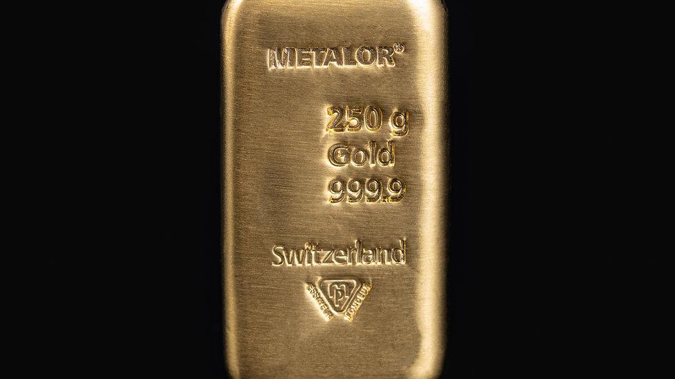 250g 999.9 Gold Bullion Bar