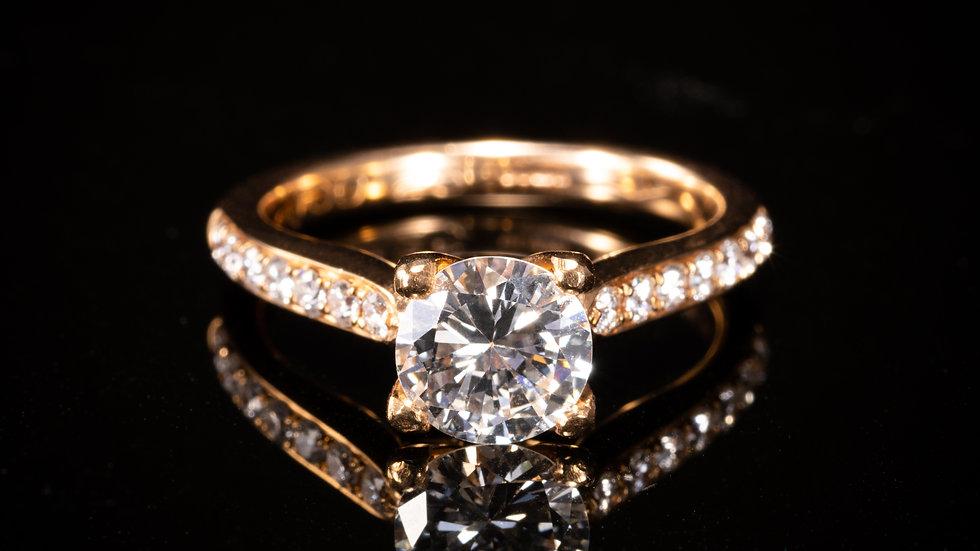 18ct Rose Gold 1.26ct Diamond