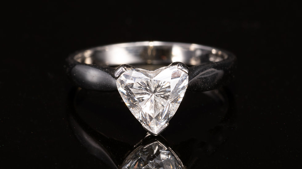 Platinum 1.5ct Heart Shaped Solitaire