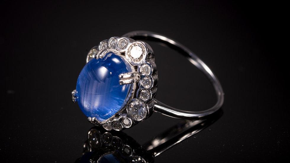 18ct White Gold Star Sapphire