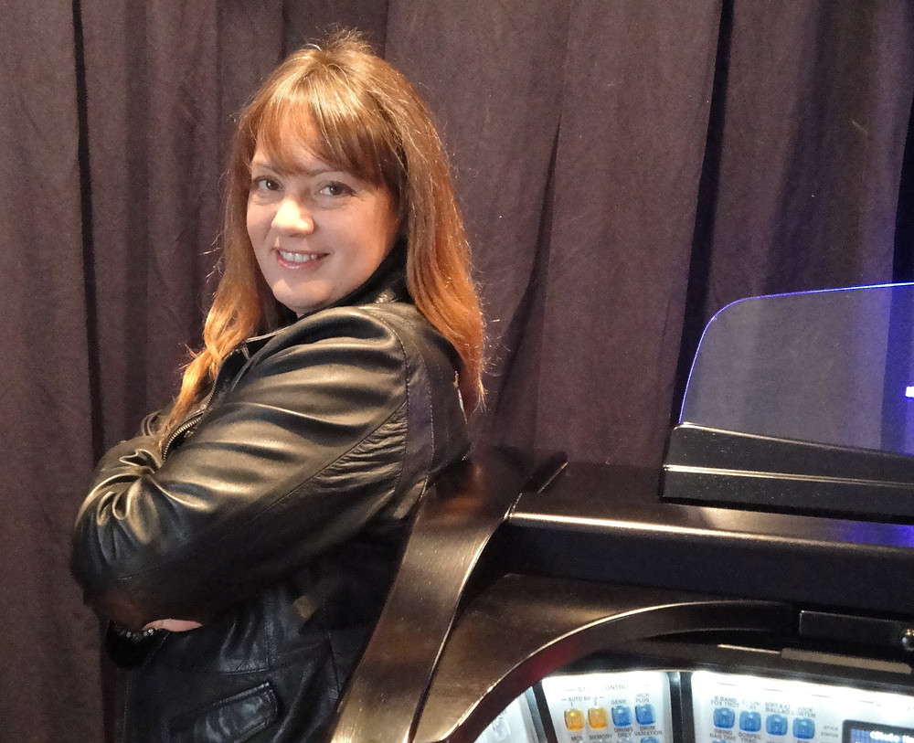 Lori and Her Black Pearl Custom Lowrey organ