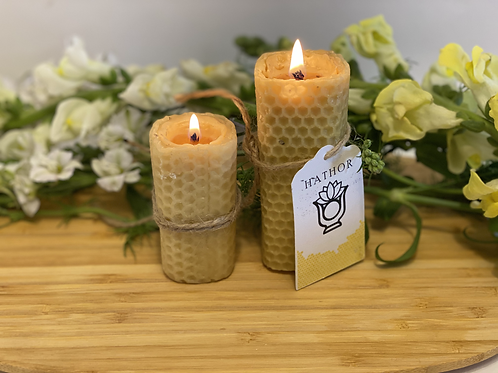 100 % Natural Beeswax Candle Small