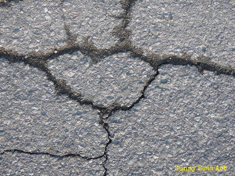 Pavement cracks heart by Sunny Seas Art_edited