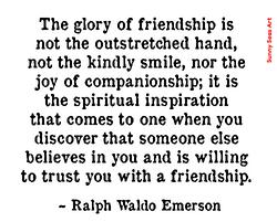 Friendship by Ralph Waldo Emerson by Sunny Seas Art