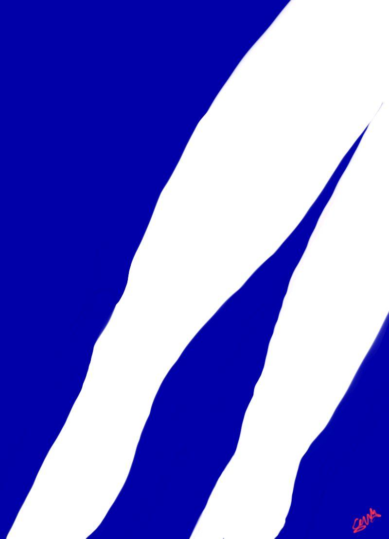 Blue and White 1 Sunny Seas Art