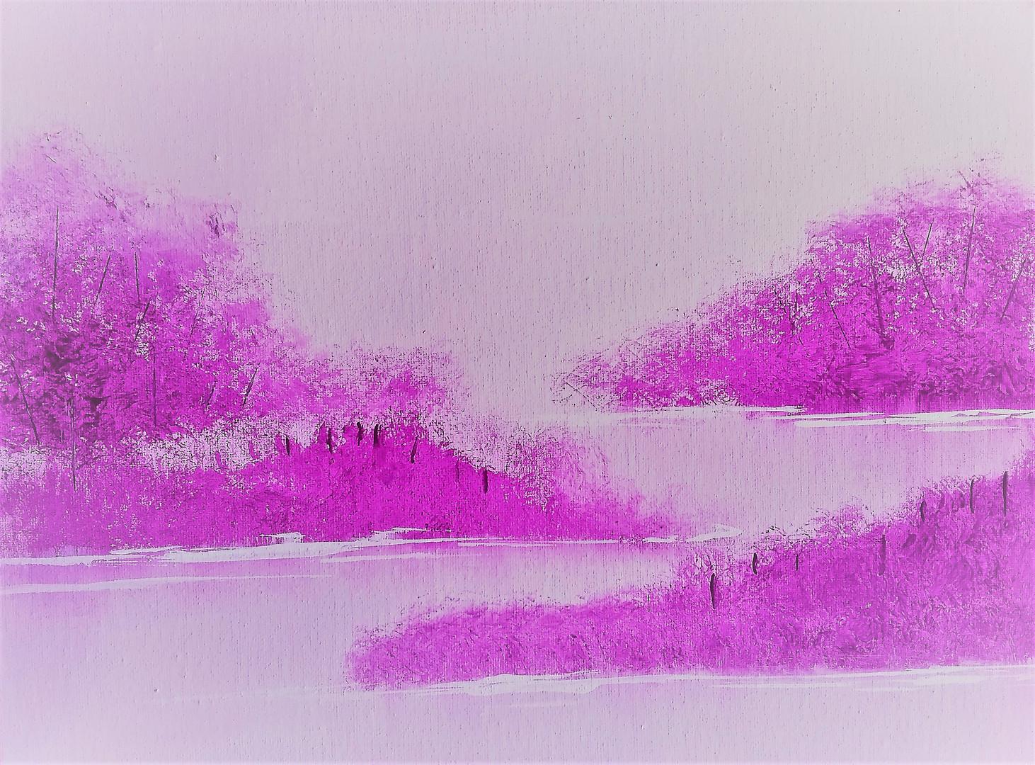 Purple Pink Salt Marsh