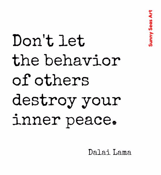 Dalai Lama inner peace by Sunny Seas Art